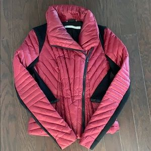 Blanc noir motion panel puffer (maroon) jacket